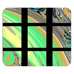 Black Window With Colorful Tiles Double Sided Flano Blanket (small)