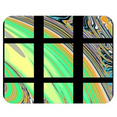 Black Window With Colorful Tiles Double Sided Flano Blanket (medium)