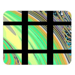 Black Window With Colorful Tiles Double Sided Flano Blanket (large)