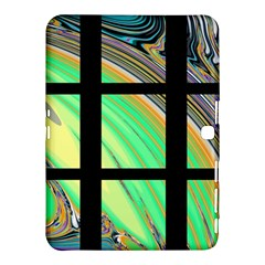 Black Window With Colorful Tiles Samsung Galaxy Tab 4 (10 1 ) Hardshell Case