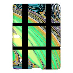 Black Window with Colorful Tiles Samsung Galaxy Tab S (10.5 ) Hardshell Case