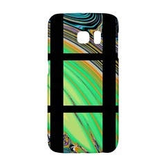 Black Window With Colorful Tiles Galaxy S6 Edge