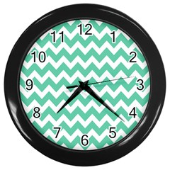 Chevron Pattern Gifts Wall Clocks (Black)