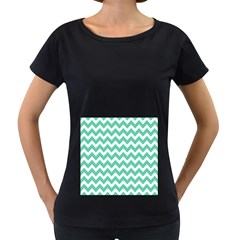 Chevron Pattern Gifts Women s Loose-Fit T-Shirt (Black)