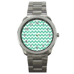 Chevron Pattern Gifts Sport Metal Watches