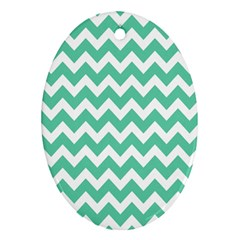 Chevron Pattern Gifts Oval Ornament (two Sides)