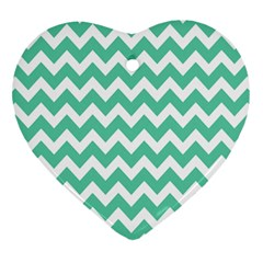 Chevron Pattern Gifts Heart Ornament (2 Sides)