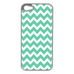 Chevron Pattern Gifts Apple Iphone 5 Case (silver)