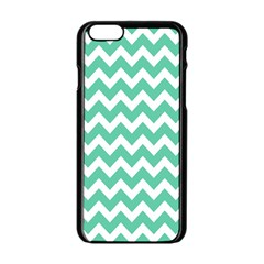 Chevron Pattern Gifts Apple Iphone 6/6s Black Enamel Case