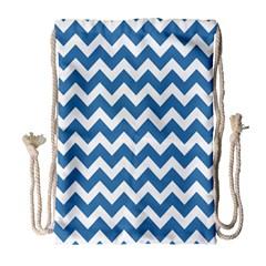 Chevron Pattern Gifts Drawstring Bag (Large)