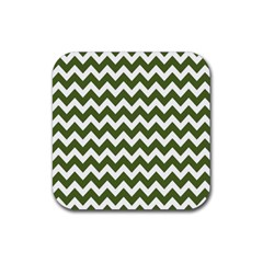 Chevron Pattern Gifts Rubber Square Coaster (4 pack)
