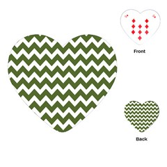 Chevron Pattern Gifts Playing Cards (Heart)