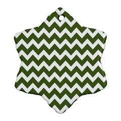 Chevron Pattern Gifts Ornament (Snowflake)