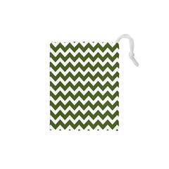 Chevron Pattern Gifts Drawstring Pouches (XS)