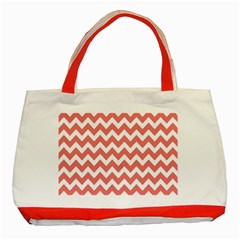 Chevron Pattern Gifts Classic Tote Bag (Red)