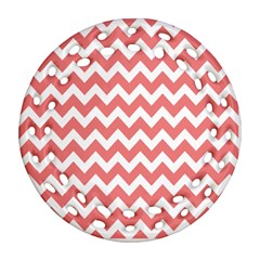 Chevron Pattern Gifts Round Filigree Ornament (2Side)