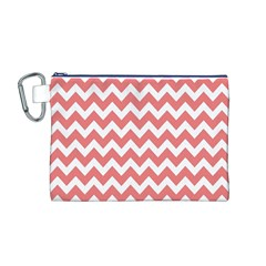 Chevron Pattern Gifts Canvas Cosmetic Bag (M)