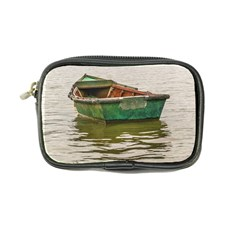 Old Fishing Boat At Santa Lucia River In Montevideo Coin Purse