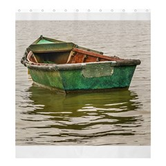 Old Fishing Boat At Santa Lucia River In Montevideo Shower Curtain 66  X 72  (large)