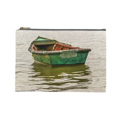 Old Fishing Boat At Santa Lucia River In Montevideo Cosmetic Bag (Large)
