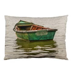 Old Fishing Boat At Santa Lucia River In Montevideo Pillow Cases (Two Sides)