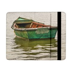 Old Fishing Boat At Santa Lucia River In Montevideo Samsung Galaxy Tab Pro 8.4  Flip Case