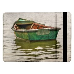 Old Fishing Boat At Santa Lucia River In Montevideo Samsung Galaxy Tab Pro 12.2  Flip Case