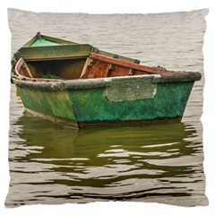 Old Fishing Boat At Santa Lucia River In Montevideo Standard Flano Cushion Cases (one Side)