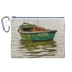 Old Fishing Boat At Santa Lucia River In Montevideo Canvas Cosmetic Bag (XL)