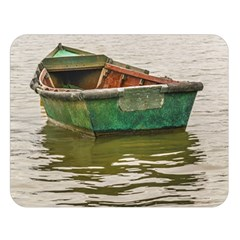 Old Fishing Boat At Santa Lucia River In Montevideo Double Sided Flano Blanket (large)