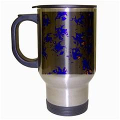 Purple Pattern Travel Mug (Silver Gray)