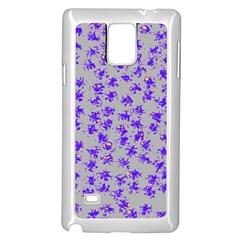 Purple Pattern Samsung Galaxy Note 4 Case (White)