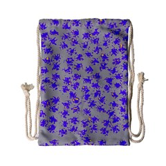 Purple Pattern Drawstring Bag (small)