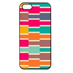 Connected colorful rectangles			Apple iPhone 5 Seamless Case (Black)