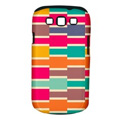 Connected colorful rectanglesSamsung Galaxy S III Classic Hardshell Case (PC+Silicone)