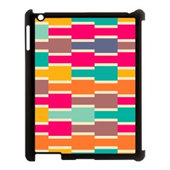 Connected colorful rectangles			Apple iPad 3/4 Case (Black)