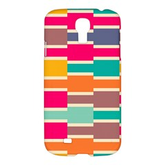 Connected colorful rectanglesSamsung Galaxy S4 I9500/I9505 Hardshell Case