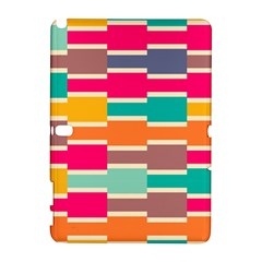 Connected colorful rectangles			Samsung Galaxy Note 10.1 (P600) Hardshell Case