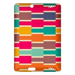 Connected colorful rectanglesKindle Fire HD (2013) Hardshell Case