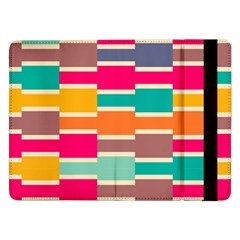 Connected colorful rectanglesSamsung Galaxy Tab Pro 12.2  Flip Case