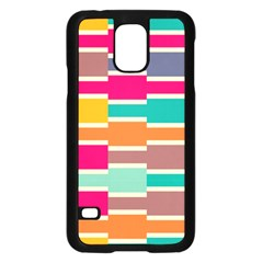 Connected Colorful Rectanglessamsung Galaxy S5 Case (black)