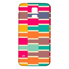Connected Colorful Rectanglessamsung Galaxy S5 Back Case (white)