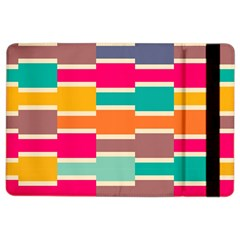 Connected colorful rectangles			Apple iPad Air 2 Flip Case