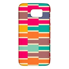 Connected Colorful Rectangles			samsung Galaxy S6 Hardshell Case