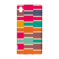Connected colorful rectangles			Sony Xperia Z3+ Hardshell Case