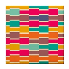 Connected colorful rectangles			Tile Coaster