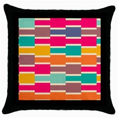 Connected colorful rectangles			Throw Pillow Case (Black)