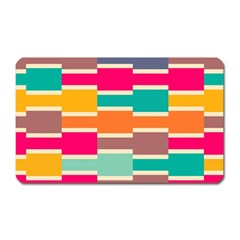 Connected colorful rectangles			Magnet (Rectangular)