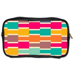 Connected colorful rectanglesToiletries Bag (One Side)