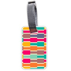 Connected colorful rectanglesLuggage Tag (one side)